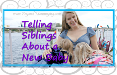 Tips and resources for telling siblings about a new baby on the way
