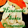 hand santa ornaments