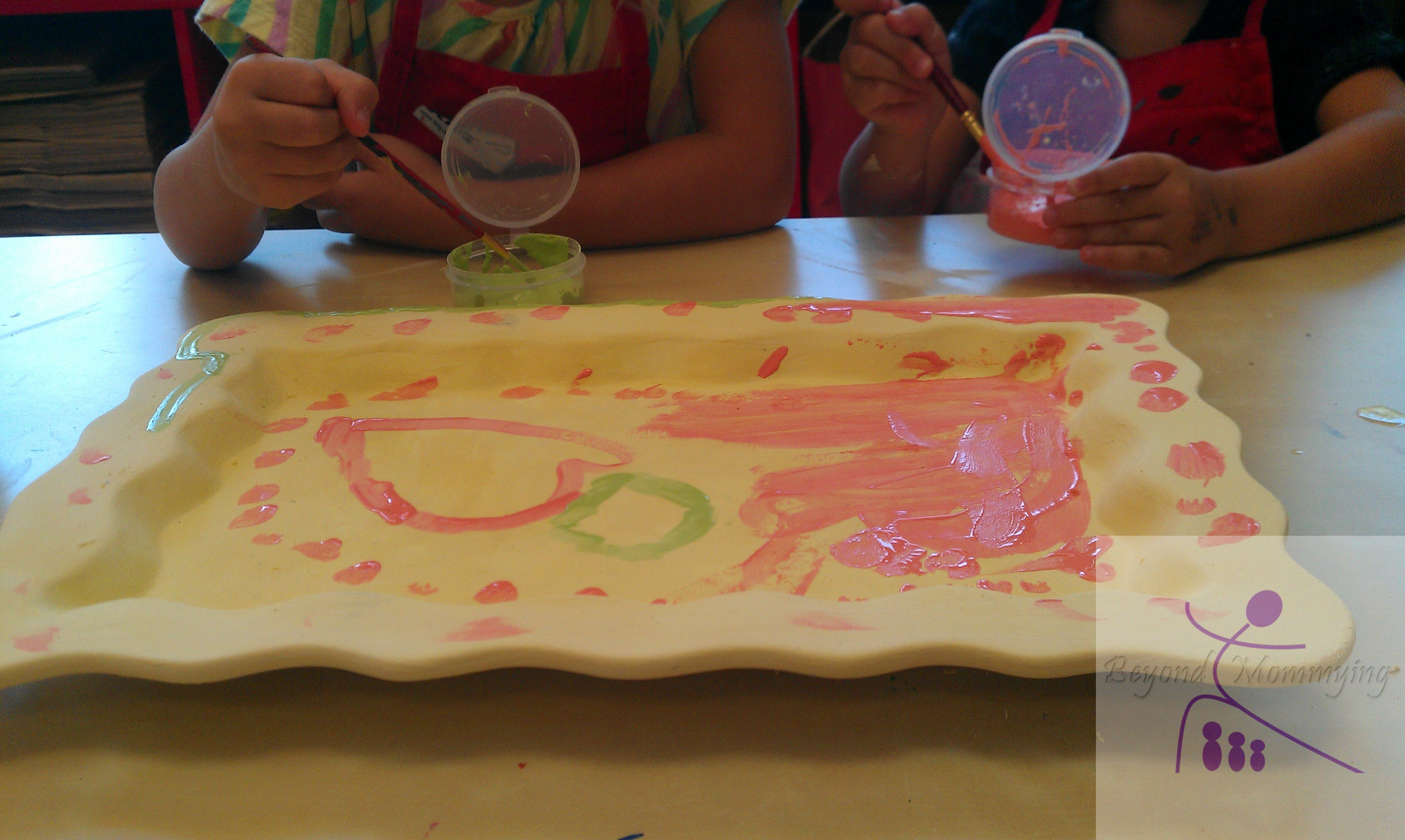 Family Pottery Painting Fun