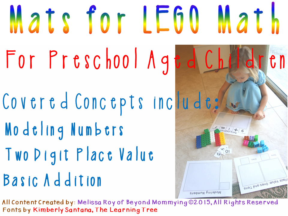 Lego Math Work for Preschoolers - Beyond Mommying