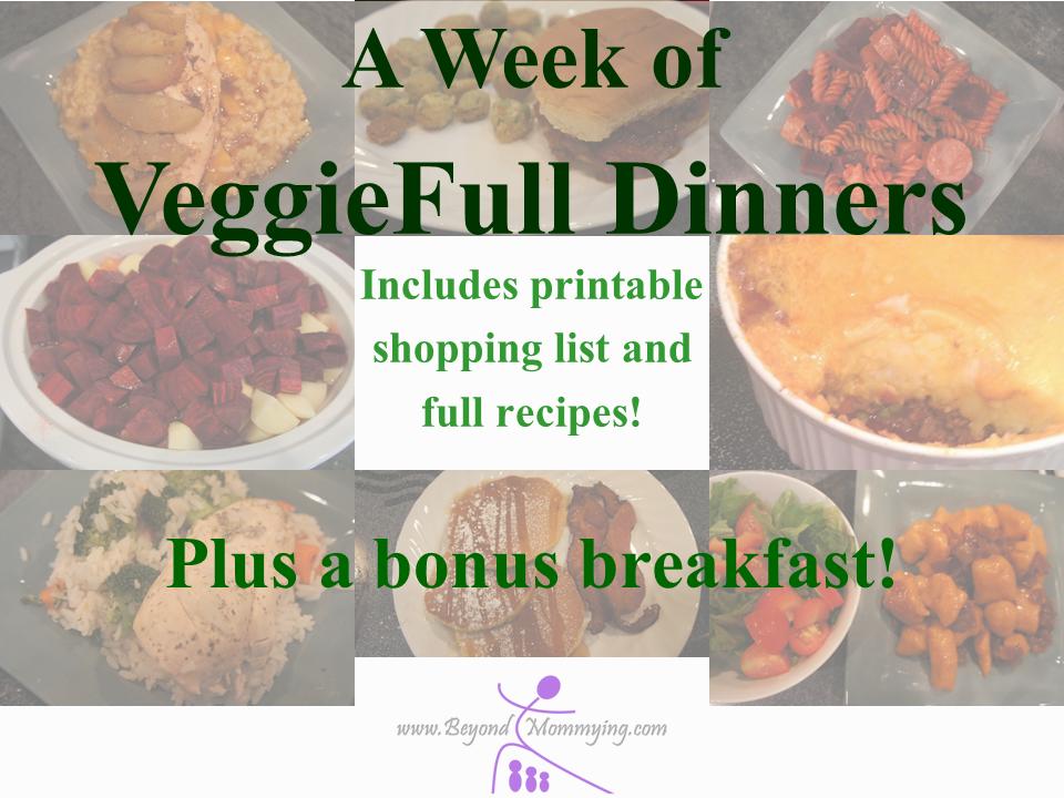 Veggieful dinners