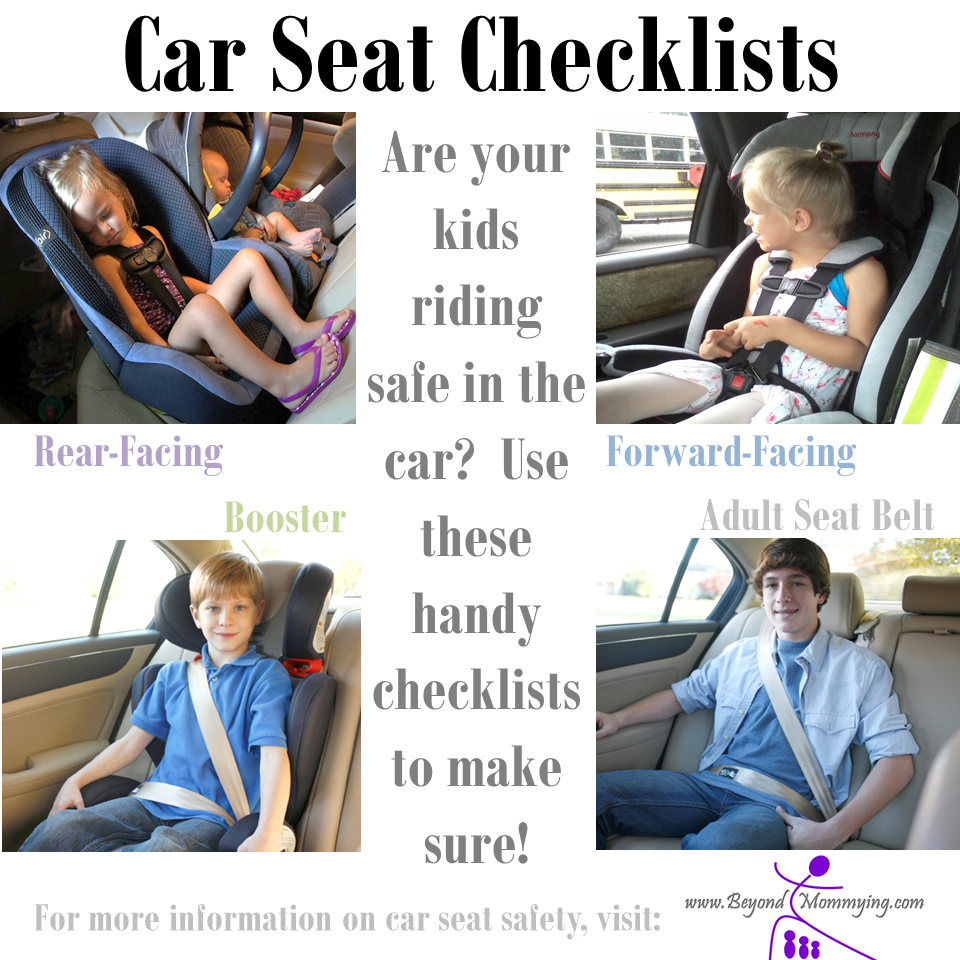 Car Seat Safety: Checklists for Proper Car Seat Use - Beyond Mommying