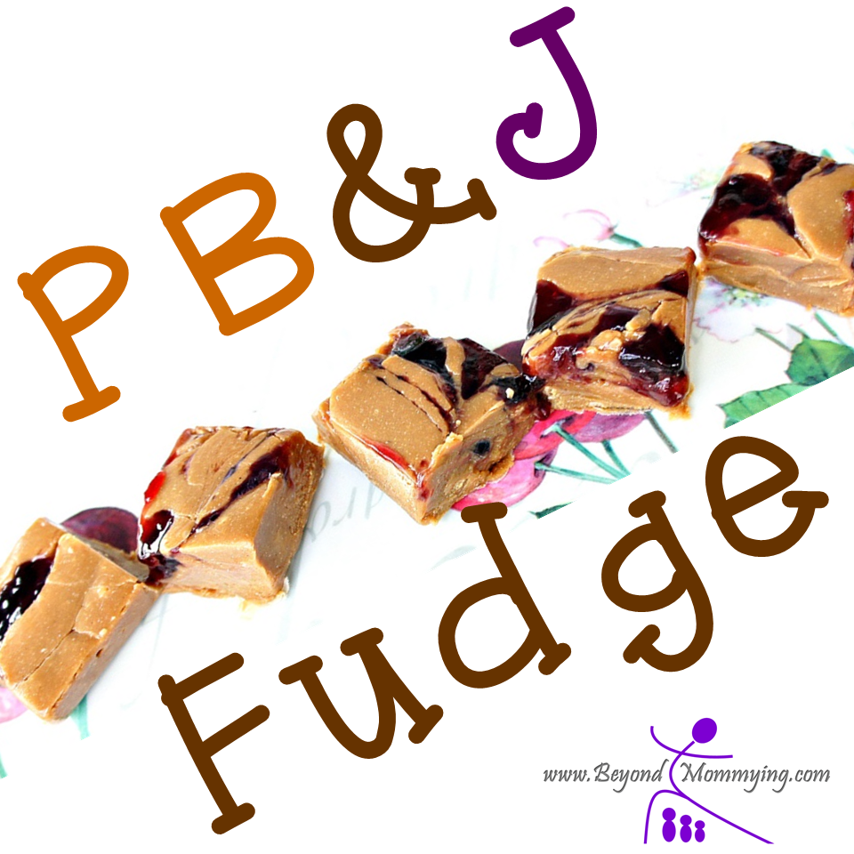 This super-simple peanut butter jelly fudge recipe makes a great treat at Christmas-time... Or anytime!