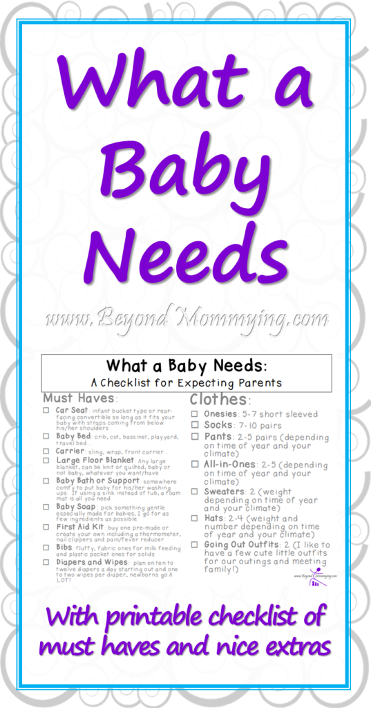 What A Baby Needs Beyond Mommying