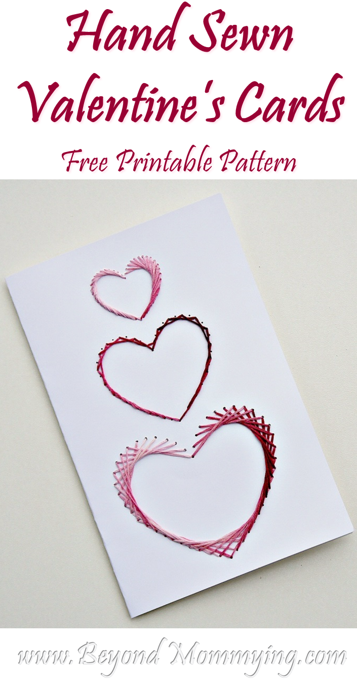 Hand Sewn Valentines Cards Beyond Mommying – Great Valentine Cards