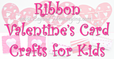 Ribbon Valentine's Card Crafts for Kids