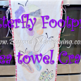 Butterfly Footprint Teatowel Crafts