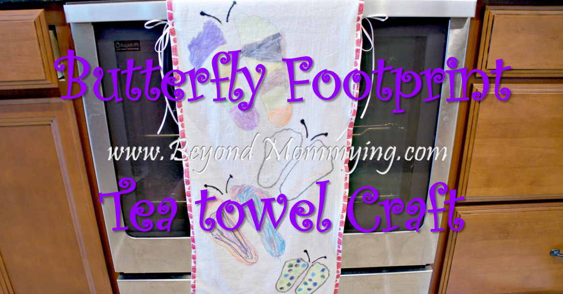 Butterfly Footprint Teatowel Crafts