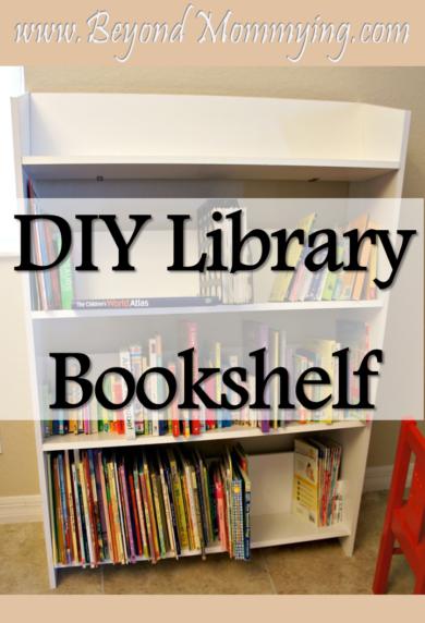 DIY Library style bookshelf