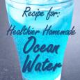 Recipe for a healthier homemade version of Blue Coconut Ocean Water Soda