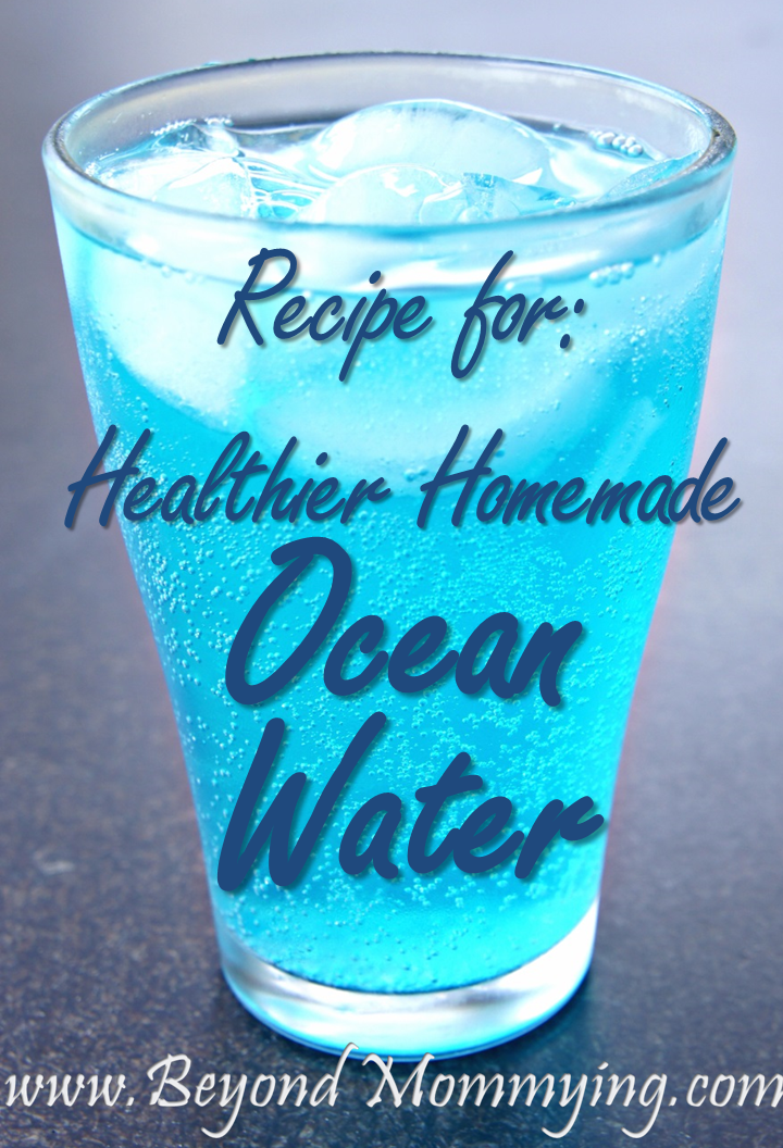 Recipe for a healthier homemade version of Blue Coconut Ocean Water Soda