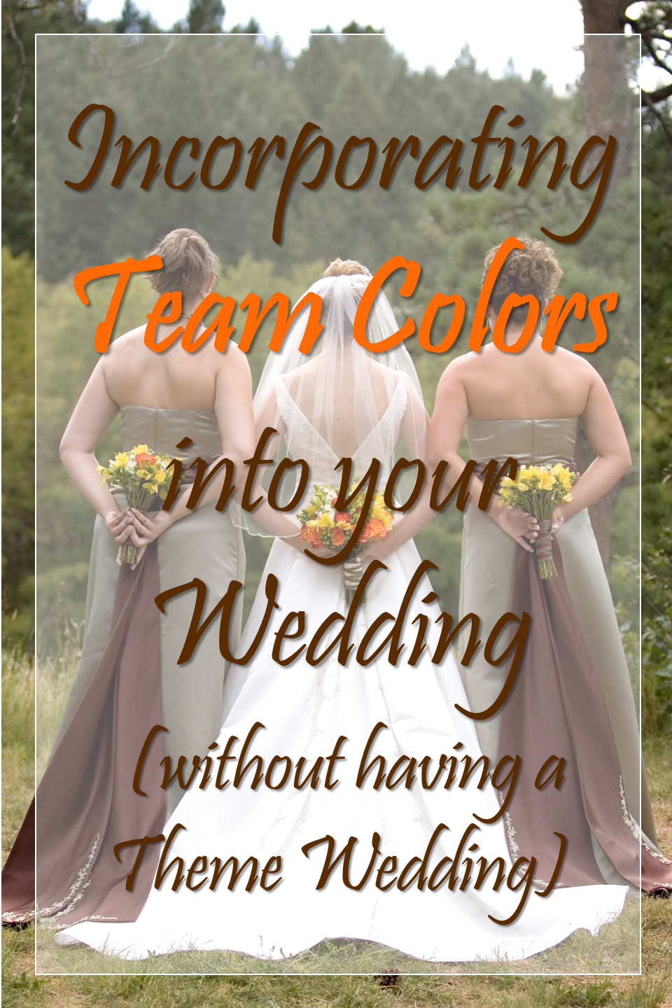 team colors wedding
