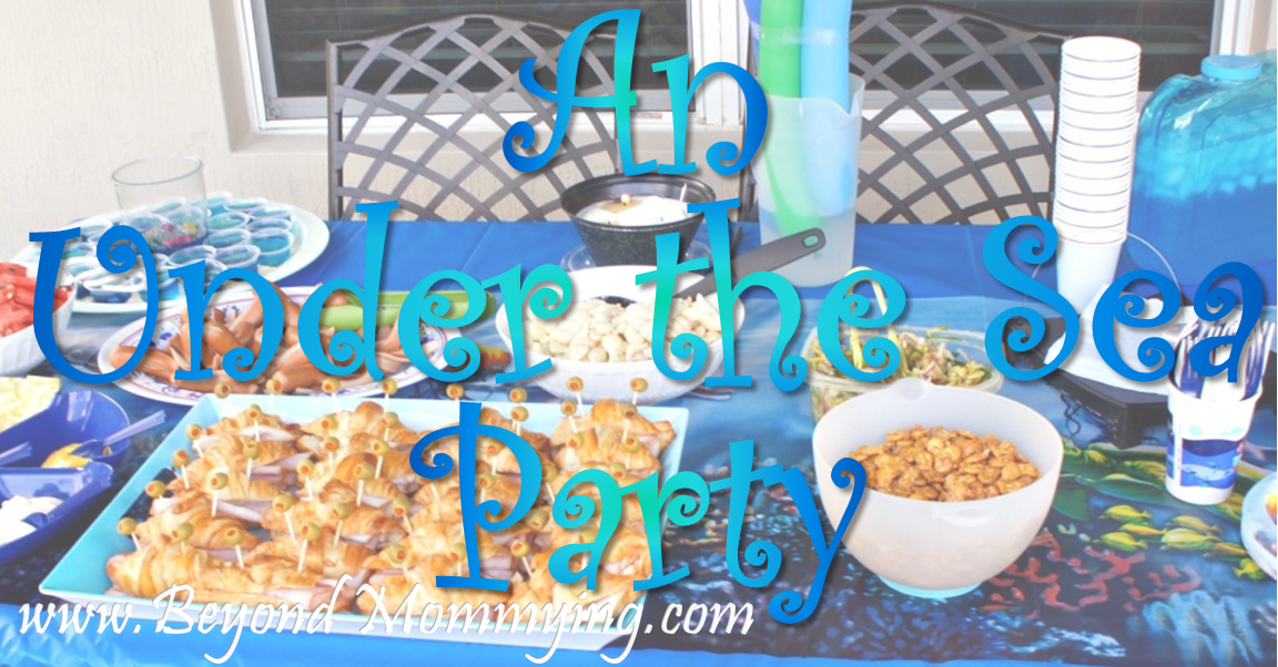 An Under the Sea Party menu