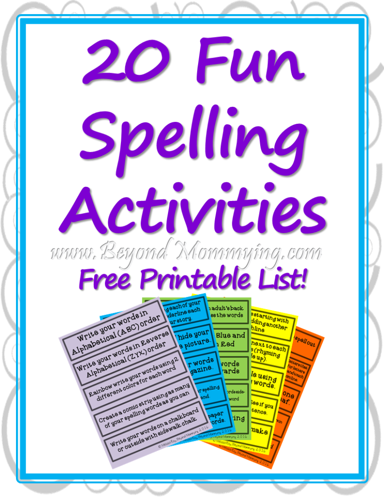 Fun Spelling Activities to Make Spelling Less Boring ...