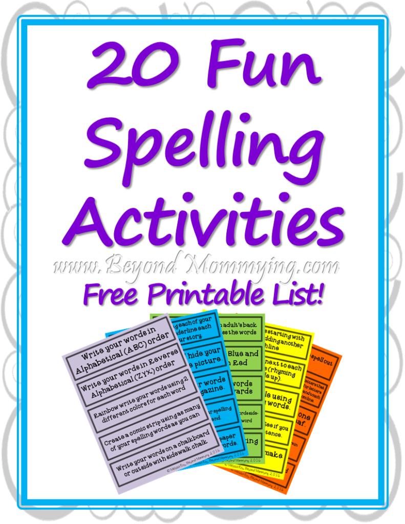 Free Worksheets free printable spelling practice worksheets : Fun Spelling Activities to Make Spelling Less Boring ...