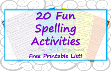 20 fun spelling activities to let kids be creative and active while learning.
