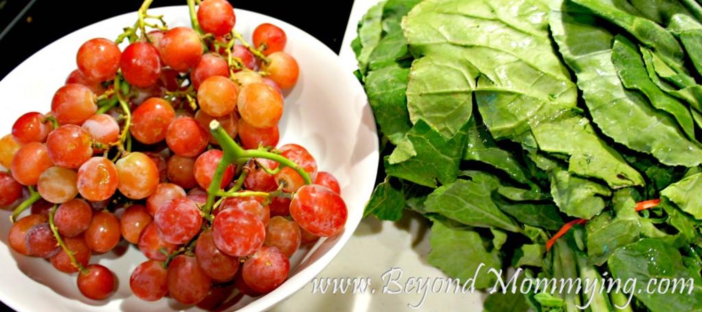 grapes and collard greens