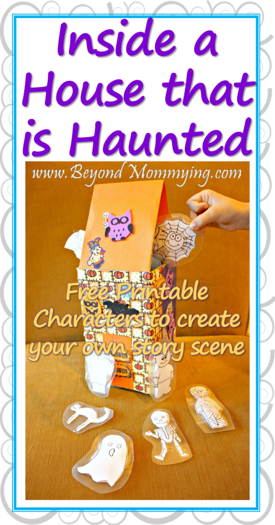 Activities for Inside a House that is Haunted book including printable characters