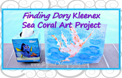 Finding Dory Kleenex Sea Coral Art Project