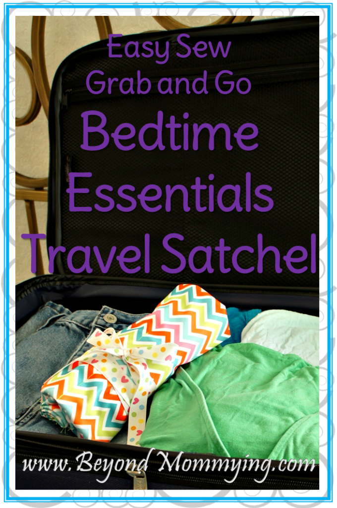 Easy Sew Bedtime Essentials Travel Satchel: Keep all your nighttime needs handy when traveling, simply fill with your before bed beauty items and throw it in your suitcase. When you arrive at your destination, simply unroll your satchel and you'll be ready for bed in not time. No need to search through your suitcases and large toiletries bags for the things you need at bedtime.