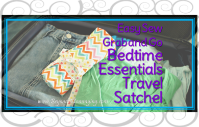 Easy Sew Bedtime Necessities Travel Satchel: Keep all your nighttime needs handy when traveling, simply fill with your before bed beauty items and throw it in your suitcase. When you arrive at your destination, simply unroll your satchel and you'll be ready for bed in not time. No need to search through your suitcases and large toiletries bags for the things you need at bedtime.