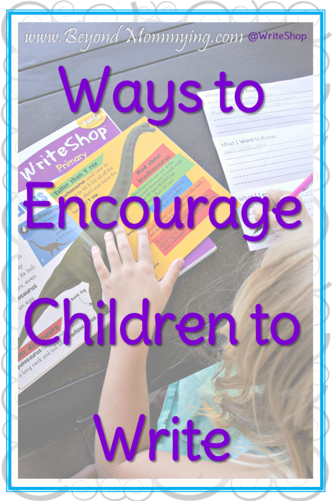 Ideas to encourage to children to write more often by using their individual interests through journaling, research, writing letters, making books and make believe play and grab a FREE Printable KWL research Pamphlet. [ad]