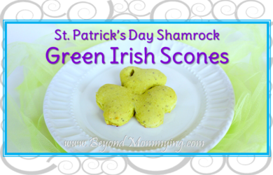 Green Irish Scones made from kiwi fruit for St. Patrick's Day or any time you want a twist on a classic Irish Fruit Scone