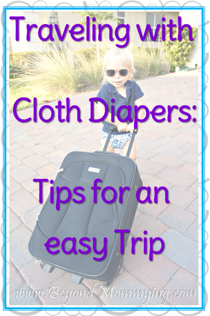 Take the cloth diaper or leave them at home? Tips for for traveling with cloth diapers and deciding whether or not to travel with cloth diapers at all.