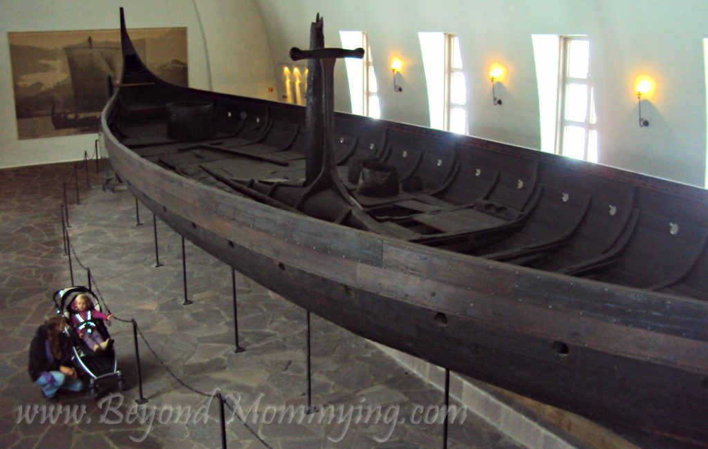 Visiting the Viking Ship Museum when traveling to Oslo with kids