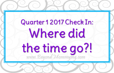 Beyond Mommying's 1st quarter, 2017 check in. Where did we grow, where have we failed?