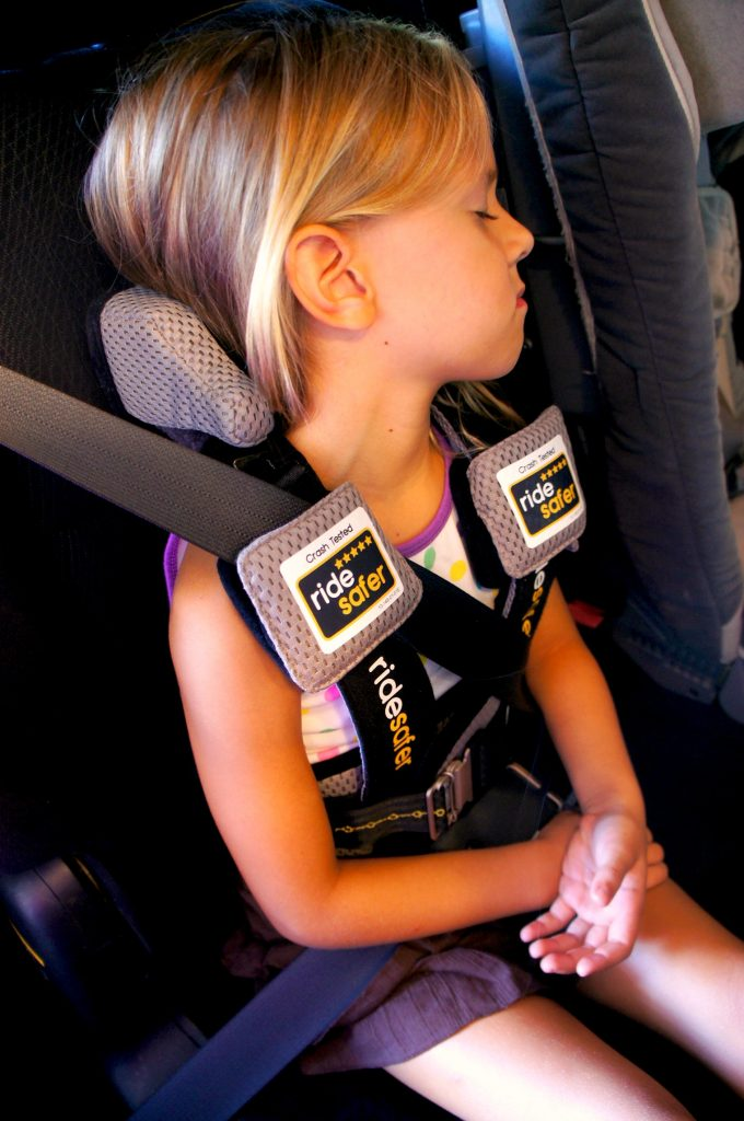 Of The Vehicle Seat Plus You Can Add Option Neck Pillow For Sleeping Comfort And Use Top Tether Strap To Keep Little Bodies In Right Place