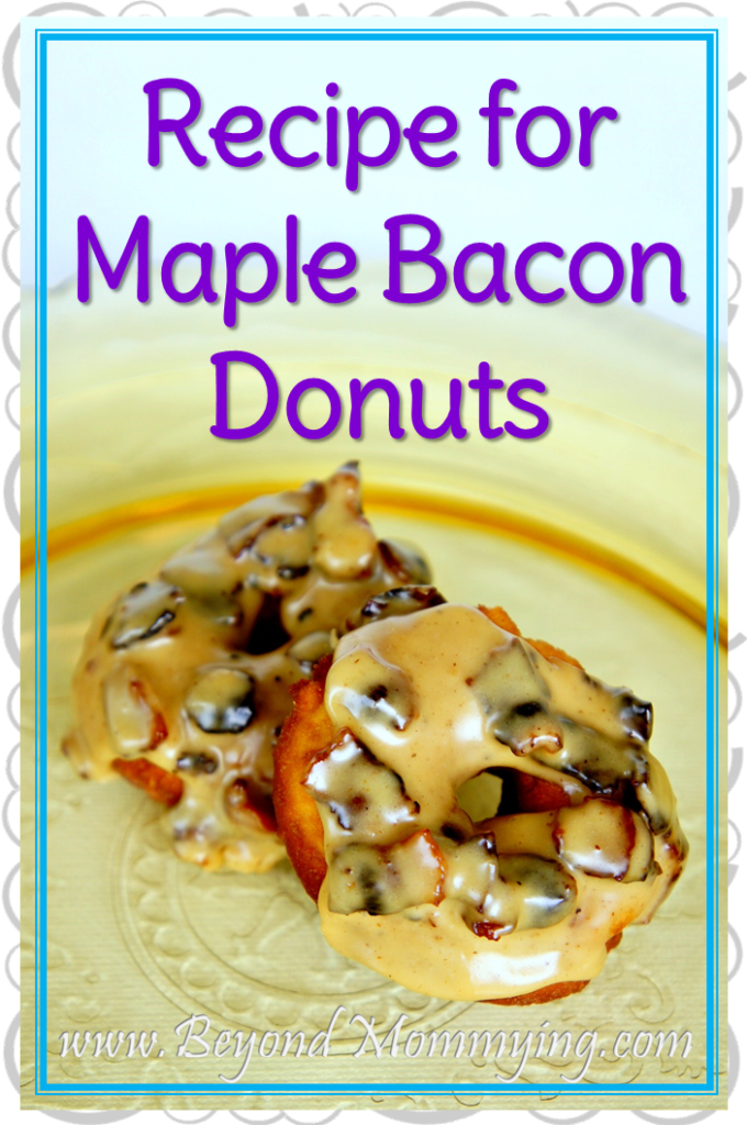 Maple Bacon Donut Recipe: Simple recipe for Maple Bacon Donuts using basic ingredients and easy enough kids can help.