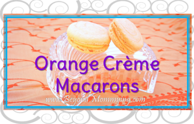 Orange Creme Macarons Recipe: a tasty twist on the classic French Macaron easily made at home with a little time, patience and simple ingredients.