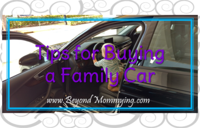 Tips for making the process of buying a family car less stressful and to help ensure you get the perfect car for your family's needs now and as it grows.