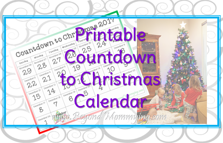 photograph relating to Countdown Printable referred to as Countdown toward Xmas 2017 (Cost-free Printable!) - Over and above Mommying