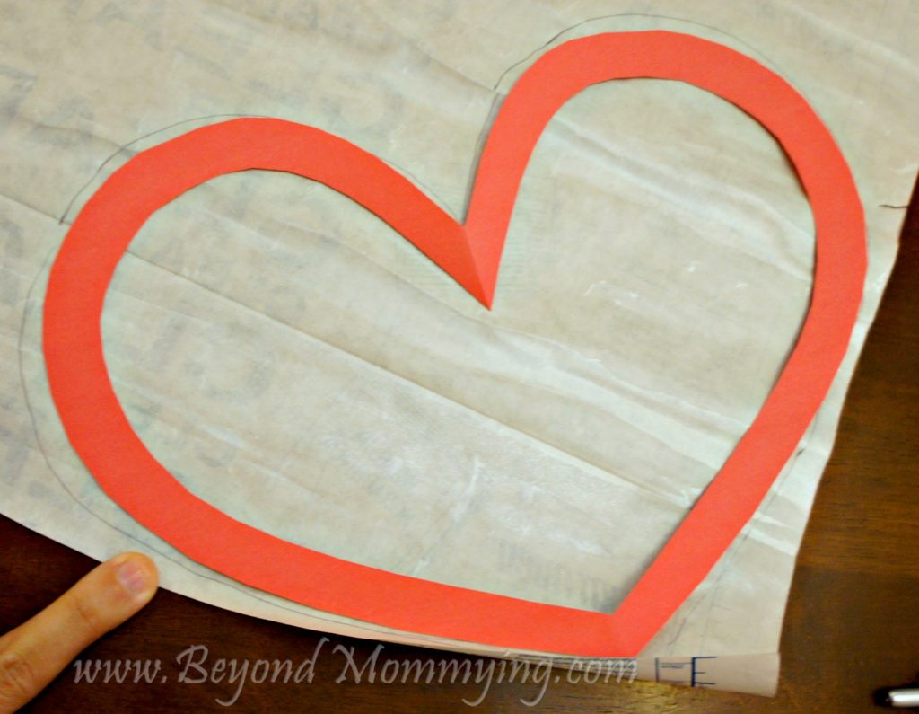 Easy preschool Valentine's Day Craft card using tissue and contact paper. Easy Valentine's card for toddlers and young children to make.