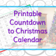 Free, printable Countdown to Christmas calendar for 2018 to keep track of how many days are left until Christmas.