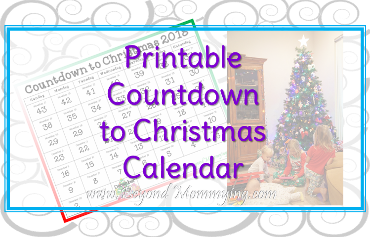How Many Days Left Until Christmas.Free 2018 Countdown To Christmas Printable Calendar Beyond